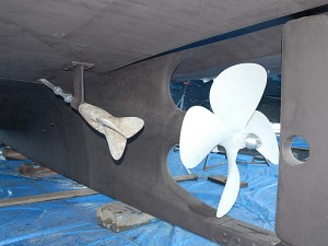 Buffed and painted propellers.