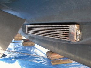 Keel Cooler for the main engine.  Zinc anodes need to be replaced.