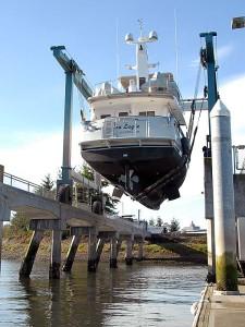 Launching Nordhavn 47 Sea Eagle