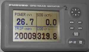 Sea Eagle passes the 20000 mile mark on her trip meter.