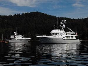 Nordhavn 55, Enterprise III from Hobart Australia and Nordhavn 47, Sea Eagle.