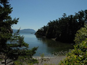 One of the peaceful coves along Matia's Southern Shore.