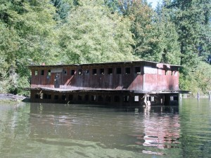 Old Floating Home on Judd Creek.