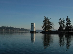 """All that is left of the """"Fox Island Lighthouse"""" on Tanglewood Island"""