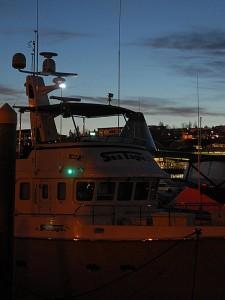 New LED Navigation Lights on N47, Sea Eagle.