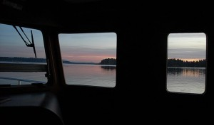 The view out the Pilothouse Windows of N47 Sea Eagle
