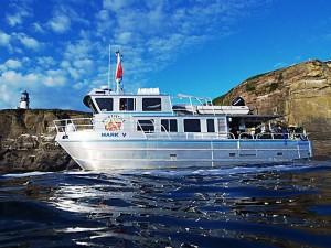 Custom Dive Charter, the Mark V at Tatoosh Island.