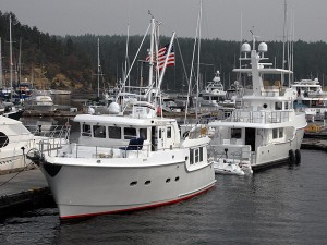 Pacific High (N47) and Paradise Found (N60) at Friday Harbor.