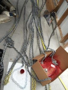 Marking the Anchor Chain for depth.
