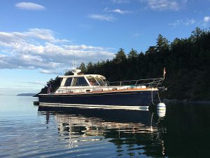 Grand Banks Eastbay 39, Yes Please at Fossil Bay
