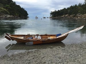 Jim Wester's beautiful, hand built boat.