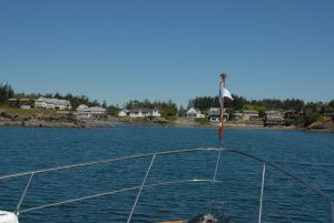 The approach to Eastsound's fishing bay.