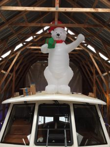 The Christmas Snow Bear on top of Yes Please